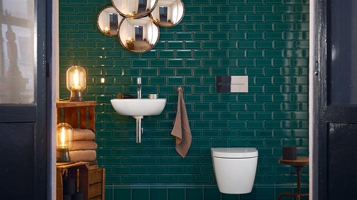 Tegels in de badkamer, trend