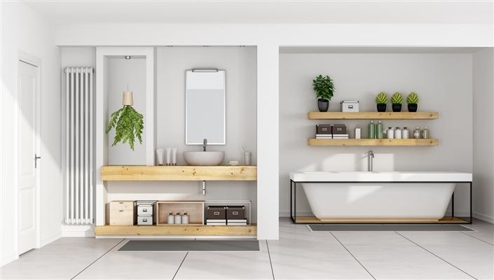 Une salle de bains écologique : des plantes aux robinets économiques