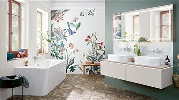 Trucs salle de bains rangée et apaisante