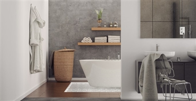 salle de bains avec plus de rangements