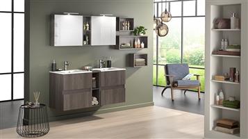 Moderne badkamer in trendy kleuren